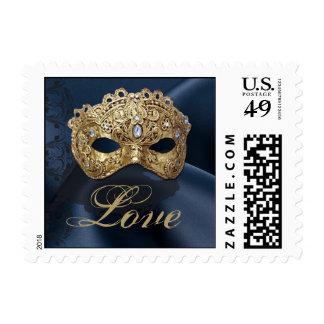 Franqueo del amor del boda de la mascarada de la sellos