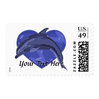 Franqueo del amor del delfín timbres postales