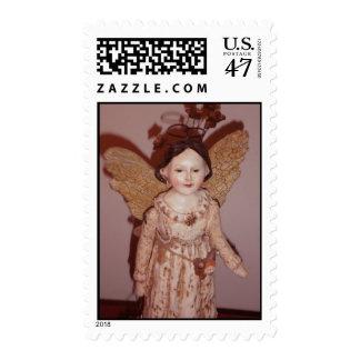 Franqueo del ángel del vintage sellos