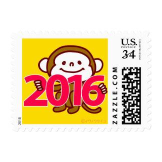 Franqueo del Año Nuevo de 2016 monos Sello