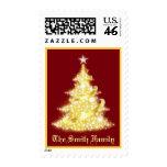 Franqueo del árbol de navidad con apellido