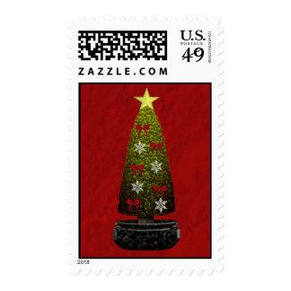 Franqueo del árbol de navidad sellos postales
