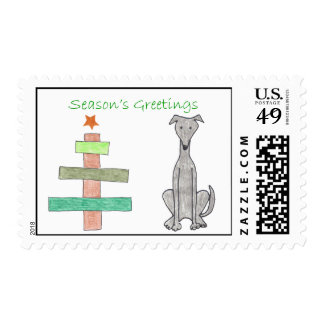 Franqueo del árbol del palillo del galgo timbres postales