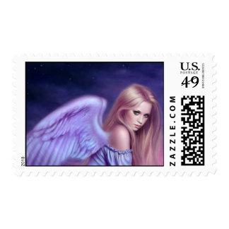Franqueo del arte del ángel de guarda de Seraphina Sellos