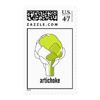 Franqueo del arte del Doodle de la alcachofa Timbres Postales