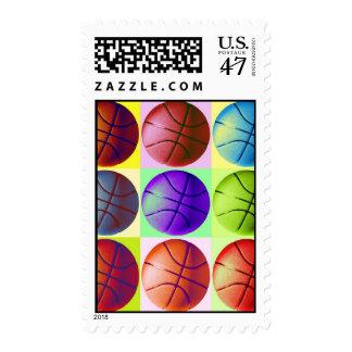 Franqueo del baloncesto del arte pop sellos