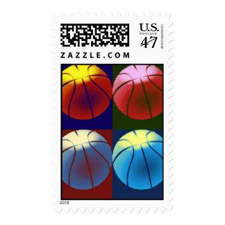 Franqueo del baloncesto del arte pop timbres postales