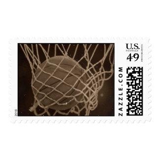 Franqueo del baloncesto del estilo del vintage sellos