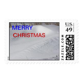 Franqueo del banco de la nieve timbre postal