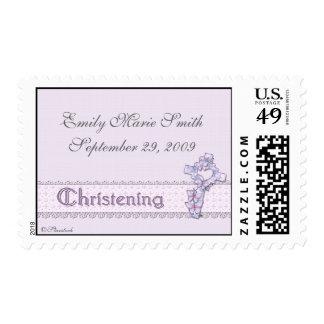 Franqueo del bautizo de la lavanda timbres postales