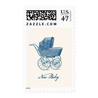 Franqueo del bebé del cochecito de niño del timbres postales