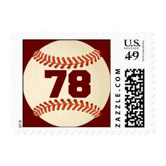 Franqueo del béisbol del número 78