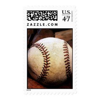 Franqueo del béisbol timbre postal