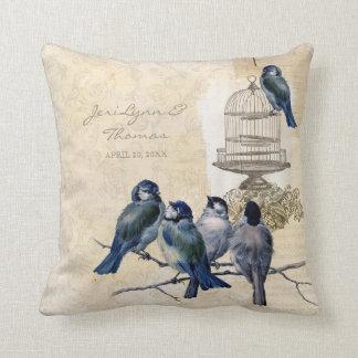 Franqueo del Birdcage de los pájaros del amor del Almohada