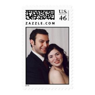 Franqueo del boda con sus fotos del compromiso