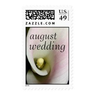 Franqueo del boda de agosto de la cala