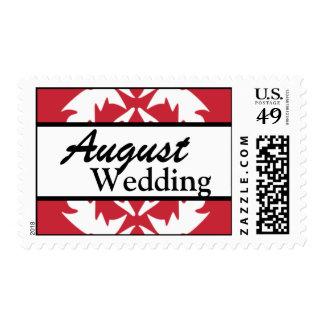 Franqueo del boda de agosto del personalizar del r