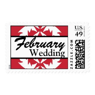 Franqueo del boda de febrero del personalizar del