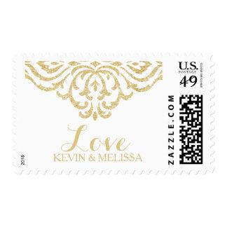 Franqueo del boda de la elegancia del encanto del timbre postal