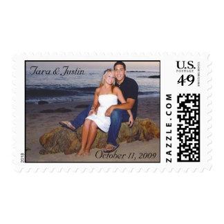 Franqueo del boda de la foto sellos postales