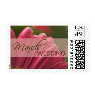 Franqueo del boda de marzo del Gerbera Sellos Postales
