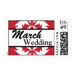 Franqueo del boda de marzo del personalizar del ro
