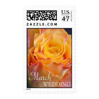 Franqueo del boda de marzo estampillas