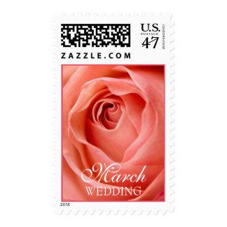 Franqueo del boda de marzo sellos
