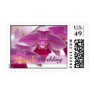 Franqueo del boda de marzo sellos postales