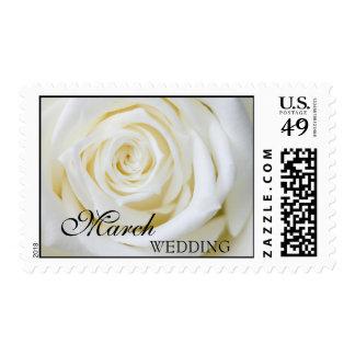 Franqueo del boda de marzo timbre postal
