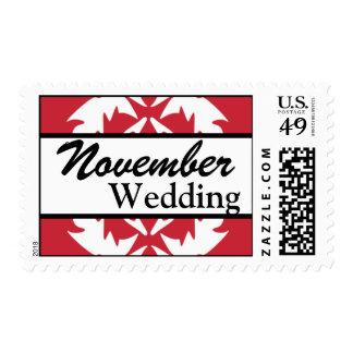 Franqueo del boda de noviembre del personalizar de