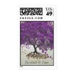Franqueo del boda del árbol de la hoja de Purple