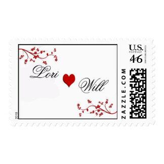Franqueo del boda del corazón del personalizar