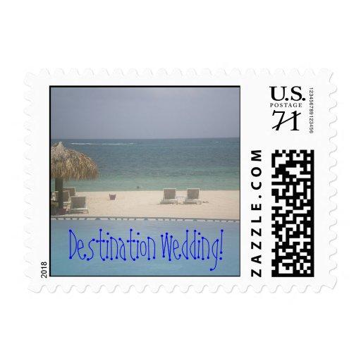 Franqueo del boda del destino de la isla timbres postales