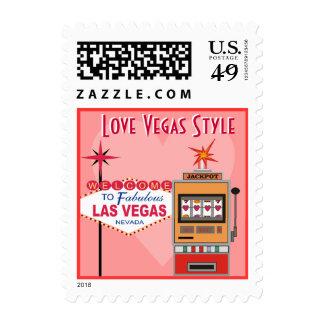 Franqueo del boda del estilo de Vegas del amor