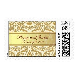 Franqueo del boda del oro sello postal
