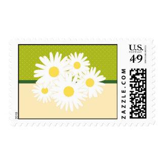 Franqueo del boda del ramo de la margarita timbres postales