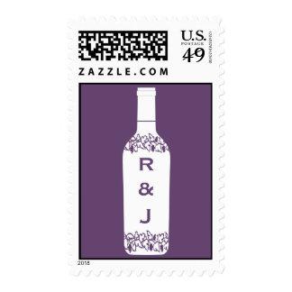 Franqueo del boda del viñedo sello postal