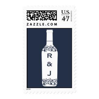 Franqueo del boda del viñedo sellos