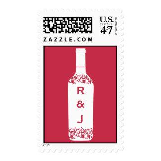 Franqueo del boda del viñedo sellos postales
