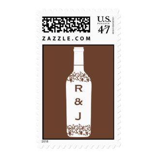 Franqueo del boda del viñedo timbres postales