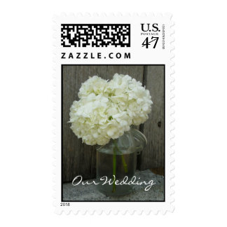 Franqueo del boda - Hydrangeas en un tarro Timbre Postal
