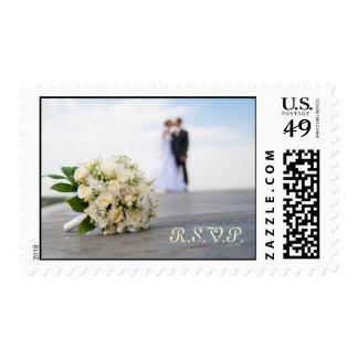Franqueo del boda R.S.V.P. Estampillas