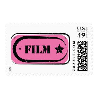 Franqueo del boleto de la película timbre postal