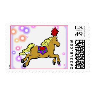 Franqueo del caballo del circo sellos