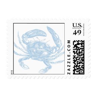 Franqueo del cangrejo azul estampillas