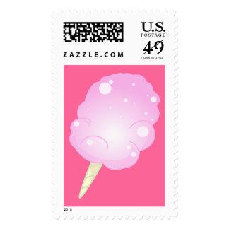 Franqueo del caramelo de algodón - rosa