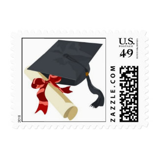 Franqueo del casquillo y del diploma de la graduac