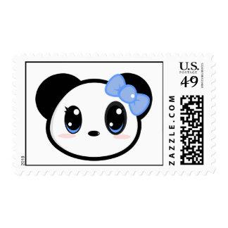 Franqueo del chica de la panda de Chibi