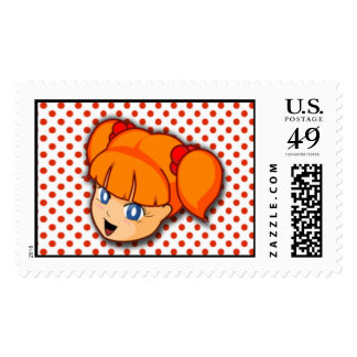 Franqueo del chica de Manga del Redhead Timbre Postal